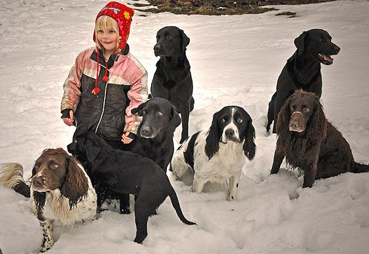 Det är rätt okej att växa upp i en jägarfamilj. Foto: Madeleine Lewander